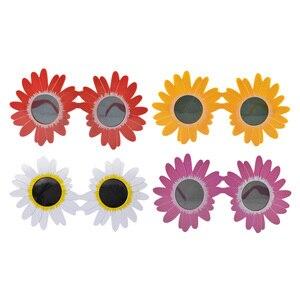 Детские солнцезащитные очки милые круглые солнцезащитные очки в форме цветка солнцезащитные очки для мальчиков и девочек, вечерние аксессуары