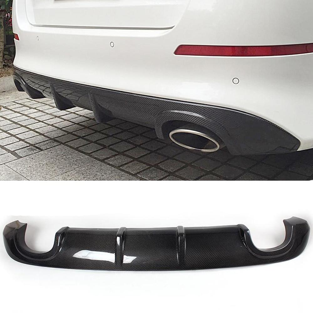 Fibra de carbono do carro do automóvel pára-choques traseiro difusor spoiler para kia k5 optima 2013-2017 difusor traseiro lábio frp preto/fibra de carbono