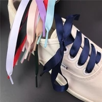 1 pair silk shoelaces for sneakers 1cm width flat laces 15 colors women laces for shoes 80cm 100cm 120cm 150cm shoestrings