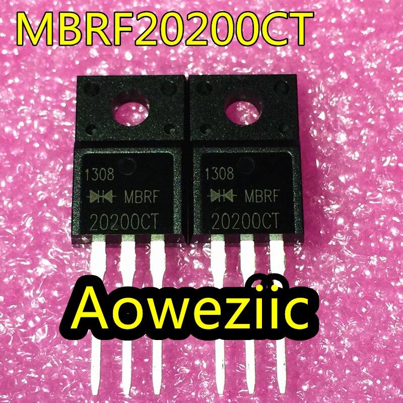 10 unids/lote MBRF20200CT 20A 100V TO-220F diodo Schottky de nuevo
