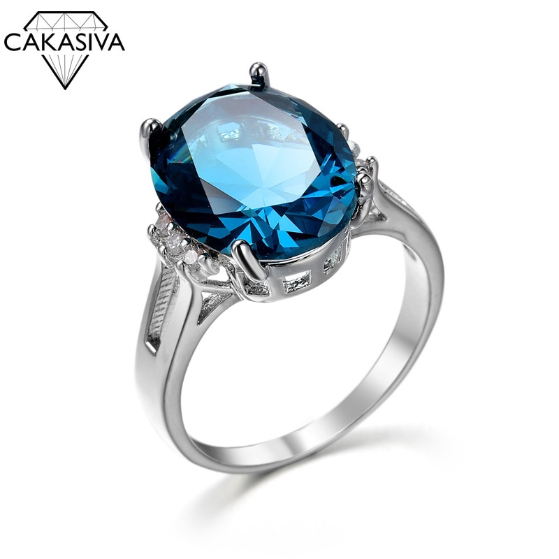 Women's 925 Silver Cubic Zirconia Ring Engagement Wedding Birthday Gift Jewellery