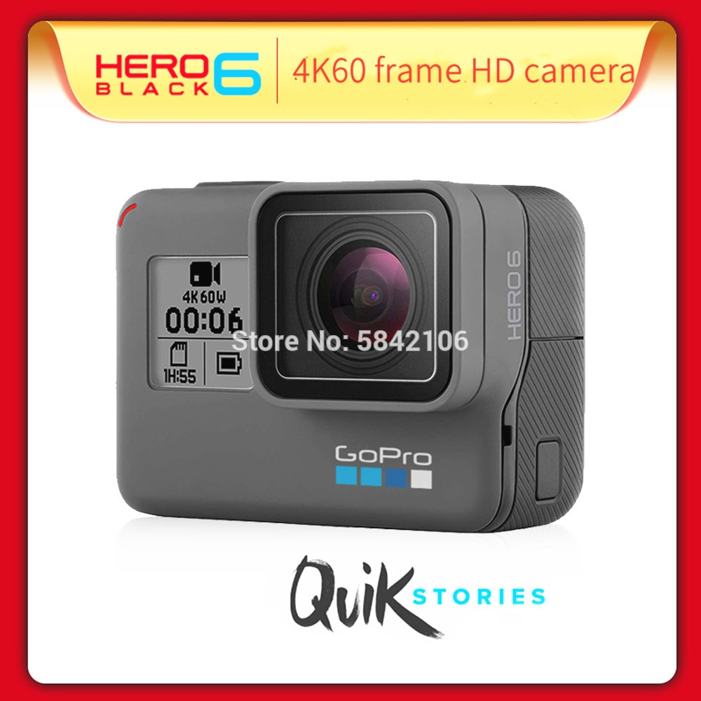 GOPRO-كاميرا فيديو Hero 6 Sport ، كاميرا حركة بدقة 4K ، إصدار 4K ، كاميرا واي فاي فائقة الدقة مقاومة للماء
