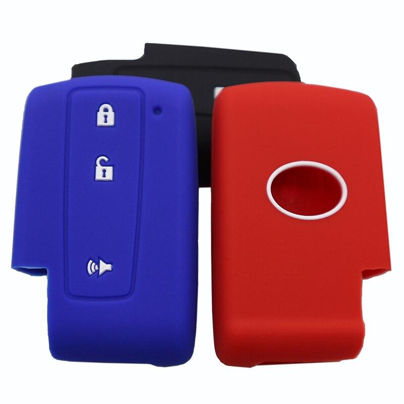 3 botones de goma de silicona para llave de coche funda carcasa para Toyota Prius 2004 2005 2006 2007 2008 2009 corona Avensis Verso