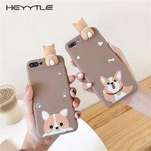 Heyytle Leuke Cartoon Hond Pop Case Voor iPhone 11 Pro MAX X XS XR Ultra Slim Soft TPU Case Voor iPhone 7 8 6 6S Plus Cover Coque