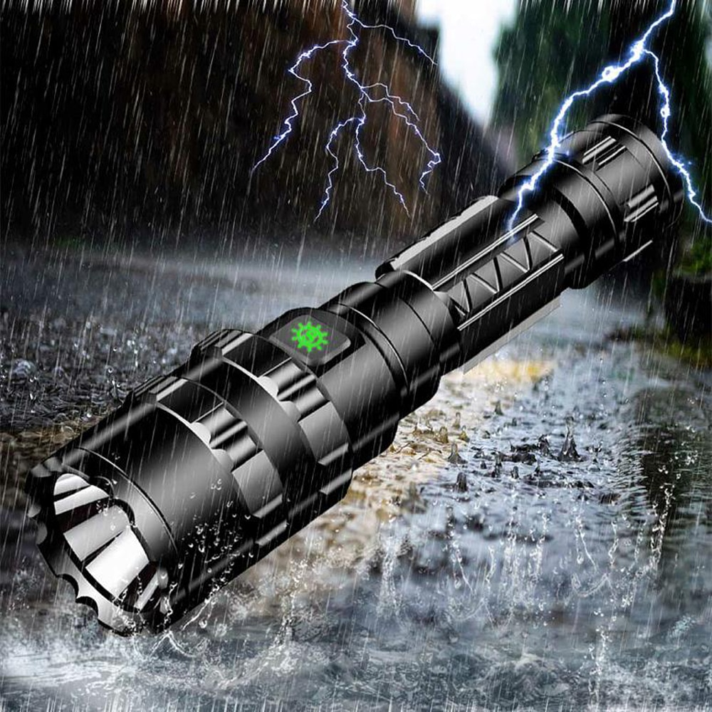 tactical torch q5 r5 led 600lm light 802 flashlight white red green blue light for outdoor camping hunting Hunting Flashlight Professional Tactical LED Flashlight USB Rechargeable Waterproof Torch Red/Green/ White L2 Scout Light