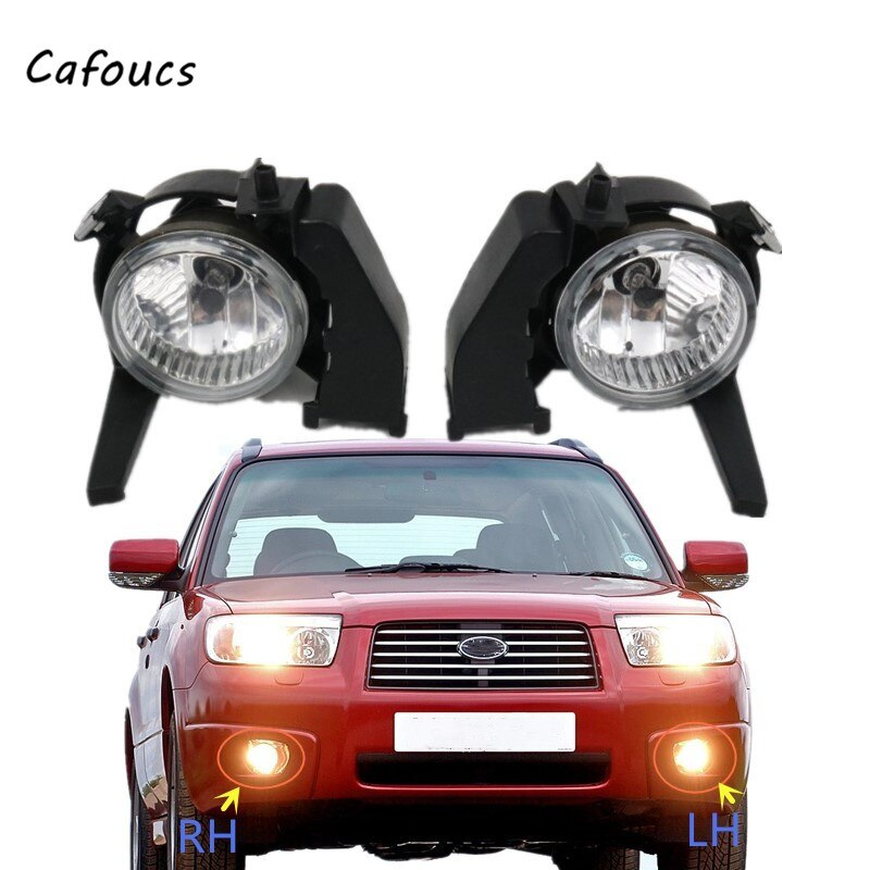 Cafoucs Front Fog light For Subaru Forester 2006 2007 2008 Driving Lamp Foglight