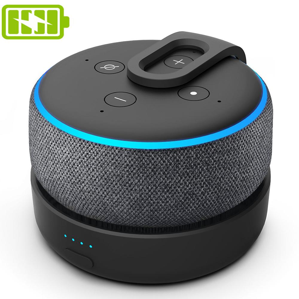 GGMM D3 Battery Base for Amazon Echo Dot 3rd Gen Alexa Speaker Holder Mount Charger For Echo Dot 3 Alexa With 8 Hours Playing