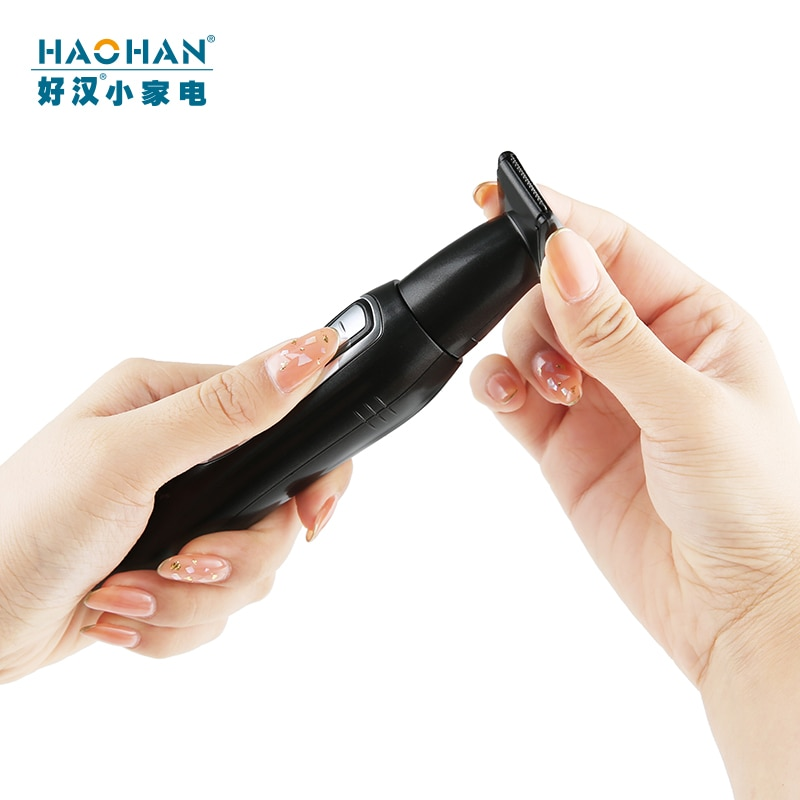 New Arrival  Nose & Ear Trimmer Haohan brand 2 in 1 Nose Hair Beard Eyebrow Rechargeable Electric Nose Trimmer Ear Shaver enlarge