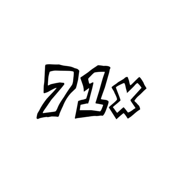 13,5 см * 6,7 см модный веселый номер 71X виниловый автомобильный Стайлинг Автомобильная Наклейка черный/серебристый
