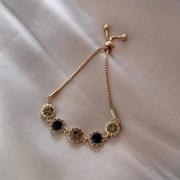 real gold plated korean retro temperament net red simple diamond studded student girlfriend personality jewelry female