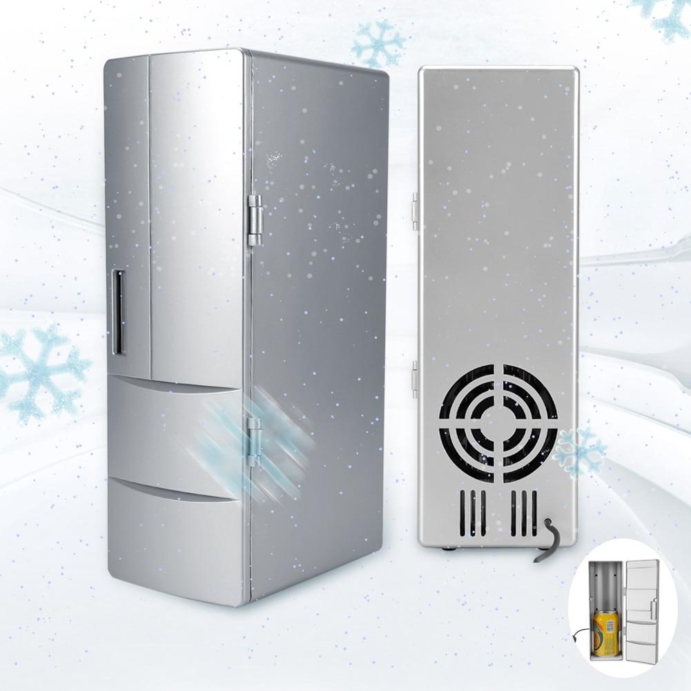 Mini nevera con USB, latas de congelador, Enfriador de cerveza para bebidas, nevera de viaje, nevera portátil para uso en el coche y la Oficina