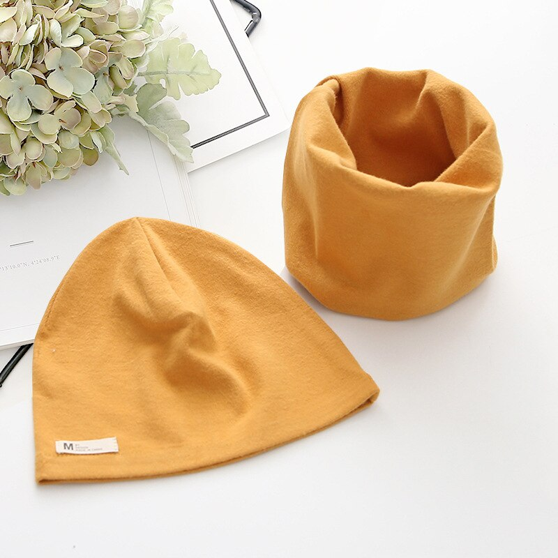 Winter Spring Baby Hat Scarf Set Cotton Baby Boy Girl Hat Cap Kids Children Hats Newborn Bonnet Beanie Boys Caps Kids Accessorie