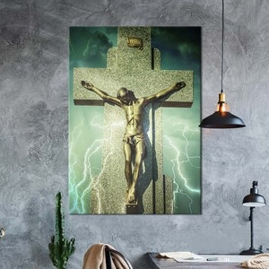 HD Printed Religion Canvas Painting Jesus Home Decoration Christian Pictures Cross Poster Wall Artwork For Living Room Framework