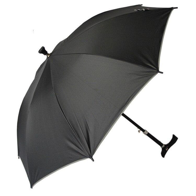 Paraguas tipo bastón paraguas de negocios plegable reverso con tiras reflectantes paraguas lluvia para hombres mujeres revestimiento negro