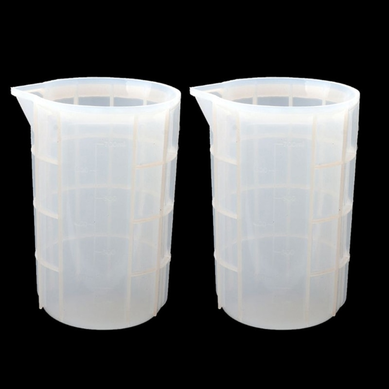 2Pcs 700ml Extra Large Silicone Measuring Cups Resin Mixing Casting Cups Tools 85LB