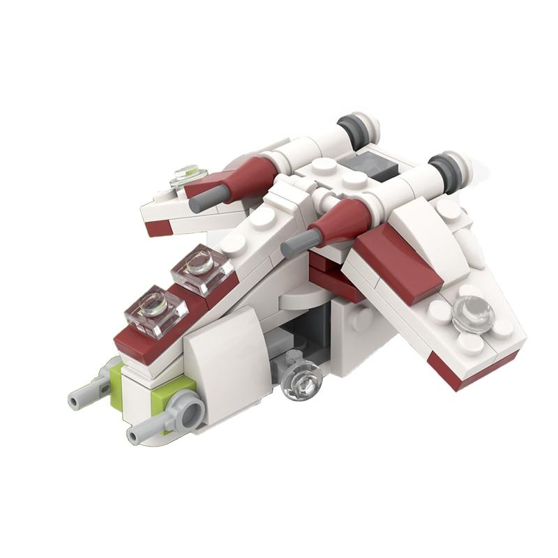 MOC мини-Республика солдат, строительные блоки 75021, боевой космический корабль, самолет, модель самолета, кирпичи, игрушки для детей, подарки н...