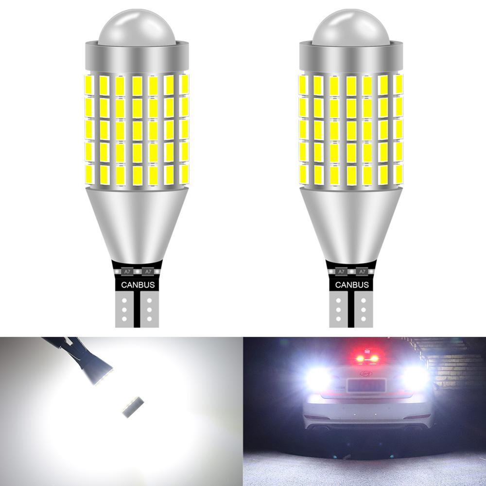 2 uds LED Canbus W16W T15 LED luces de marcha atrás del coche para VW Golf 4 5 5 5 6 6 7 GTI Polo Passat B5 B6 B7 CC Sharan Jetta 912 921 inversa