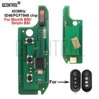 QCONTROL Car Remote Key Circuit Board for FIAT 500/500L MPV Bravo Ducato Doblo Fiorino Grande Punto Evo Qubo PCF7946 Chip