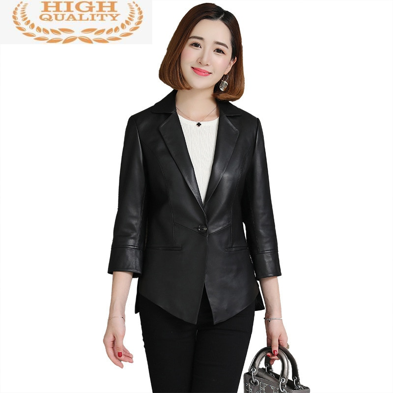 Jacket Spring Genuine Leather Women Real Sheepskin Coat Korean Blazer Leather Jackets Ladies 2021 Ca