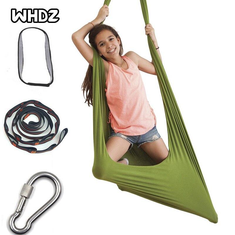 criancas adulto algodao swing hammock 28m duravel elastica aerea yoga hammock macio