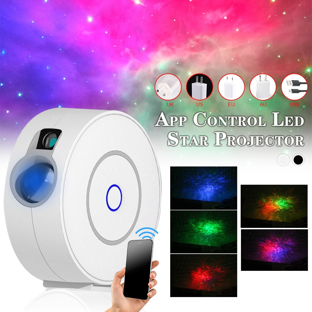 Star Sky Projector Star Night Light Remote Control Nebula Cloud Night Lamp Projector for Home Party Decoration Bedroom Lamp