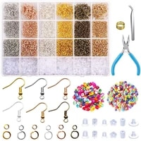 jewelry findings set alloy accessories jewelry making tools copper wire openjump rings earring hook jewelry making supplies kit