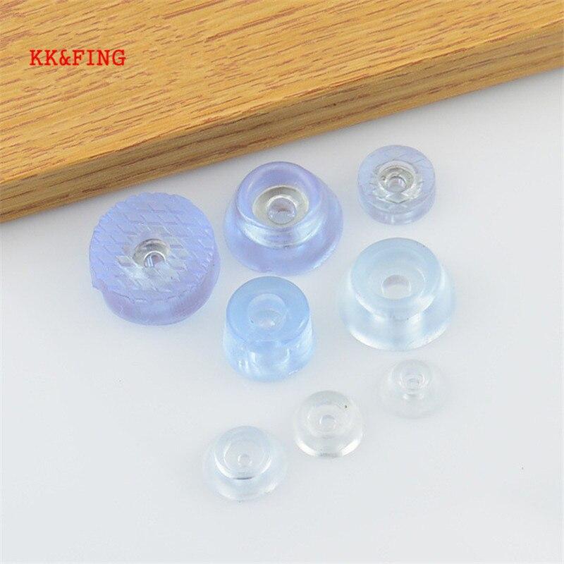 KK & FING 20 шт мягкие прозрачные Нескользящие подушечки для ножек стола или стула, ножные нижние подушечки для мебели, дивана, стула, чехлы для ног, напольные протекторы