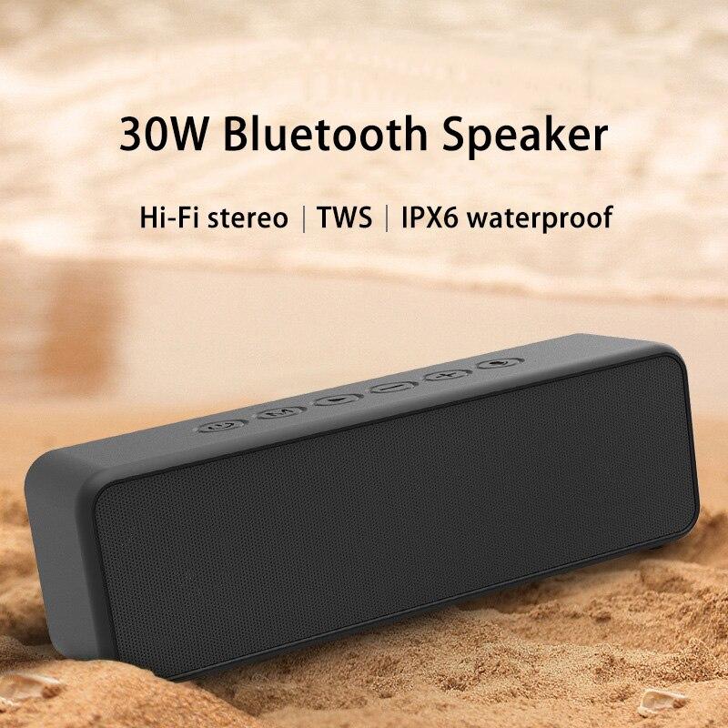 Altavoz Bluetooth TWS con Subwoofer, resistente al agua, 30W, 4000mAh