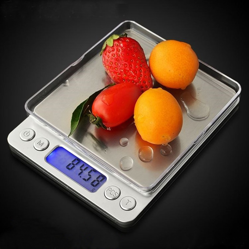 2019 Portable Electronic Food Scales 3000g/0.1g Postal Kitchen Jewelry Weight Balance Digital Scale