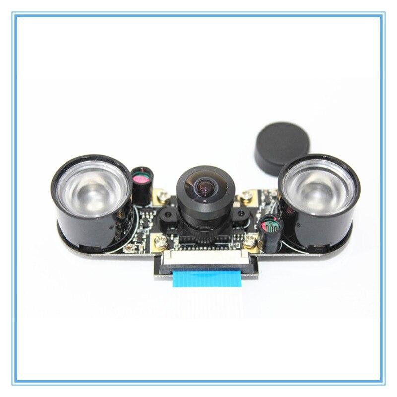 Fish eyes-كاميرا Raspberry Pi 3 موديل B Plus ، 160 درجة ، 5 ميجابكسل ، رؤية ليلية ، ضوء الأشعة تحت الحمراء ، زاوية واسعة ، RPI