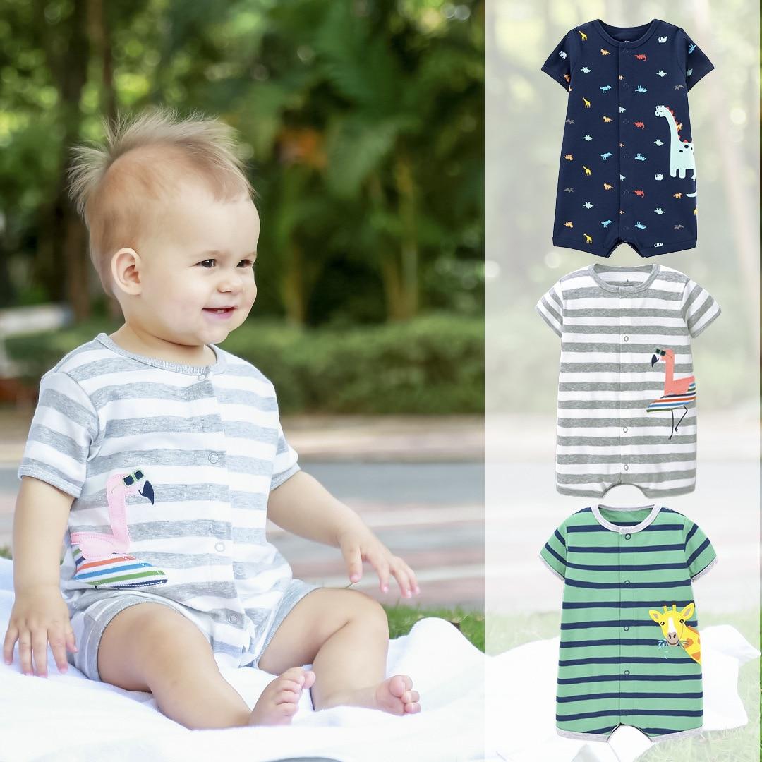 Ropa de bebé recién nacido de verano 2020, Mono para niños, mono de dinosaurio con perezoso, ropa para bebé, mono de bebé de dibujos animados