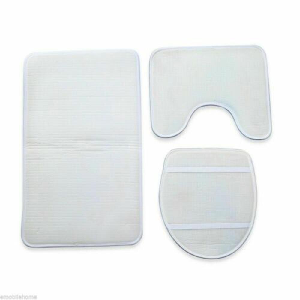 3Pcs/set Solid Color Toilet Seat Cover Set Absorbent Non-Slip Bathroom Rug Bath Mat Set Mat Flannel Floor Mats Home Decor enlarge