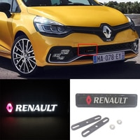 Renault Clio Encore Fluence Koleos Laguna Logan Megane Sandero Scala Trafic Car Emblem Front Hood Grill Bonnet DRL Led Light