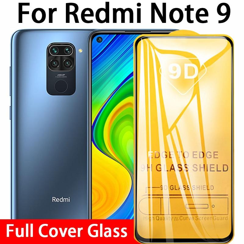 9d cola completa vidro temperado para xiaomi redmi nota 9 protetor de tela no xiomi vermelho mi note9 not9 6.53 not9 9h película protetora