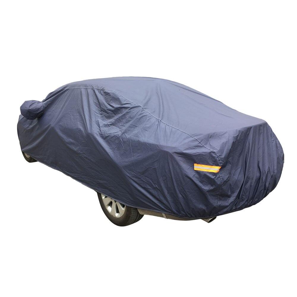 PEVA Cotton Outdoor Waterproof Snow Sun Rain Ice UV Resistance Reflective Strip Car Cover with Ears