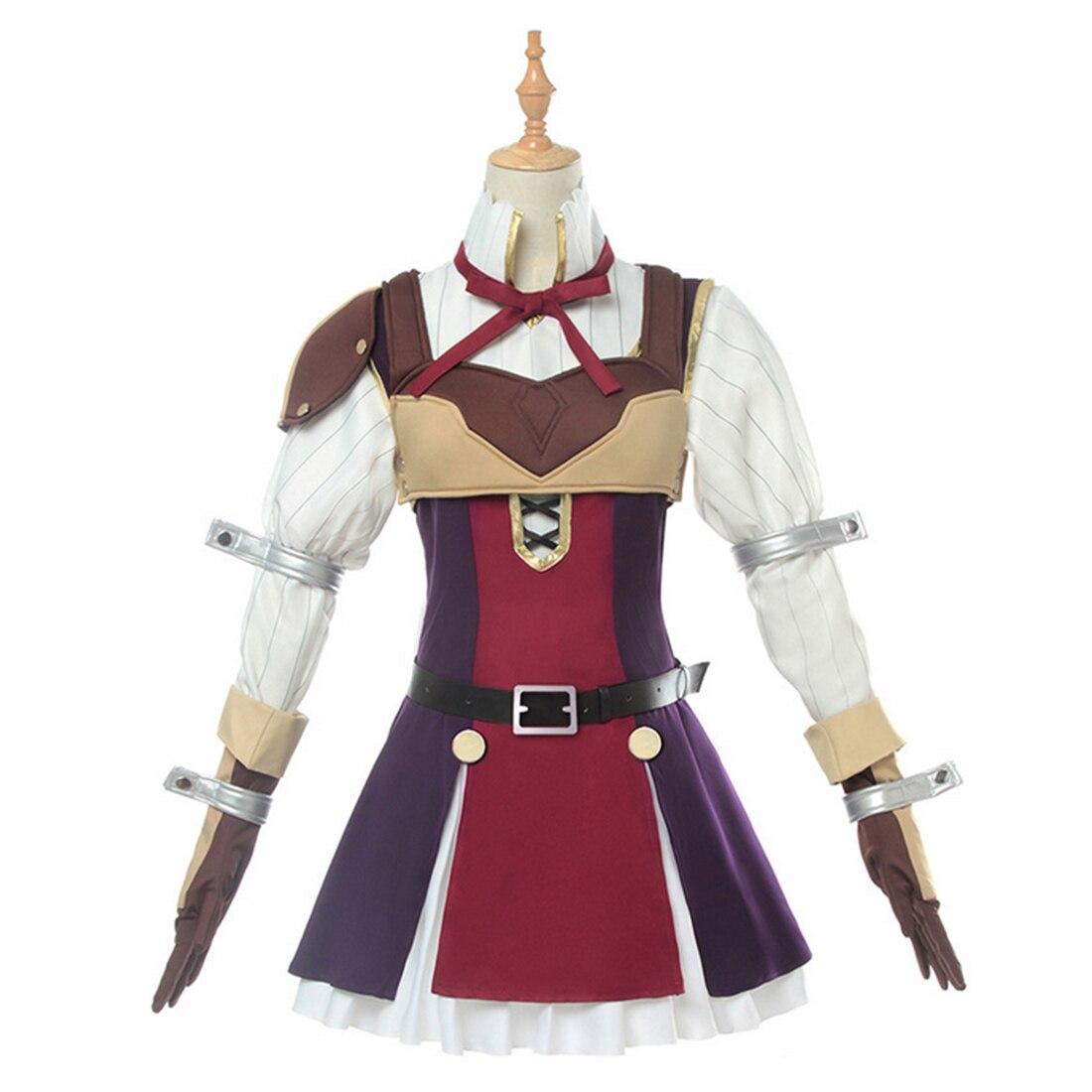 Fiesta y adornos DIY para fiesta para el levantamiento del héroe escudo para disfraz de Cosplay Raphtalia disfraz de Anime japonés vestido para niñas
