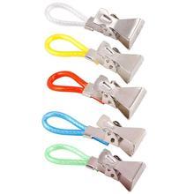 5Pc Tea Hanging Towel Pliers Clip On Hooks Loop Towel Hooks Hanging Clothes Pegs And Clothesline Home Kitchen Bathroom Organizer