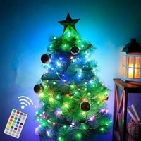 christmas tree decoration remote control string lights copper wire fairy lights indoor and outdoor wedding decoration lights