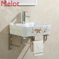 ceramic wall mounted wash basin square wall hung basin art basin table basin wall mounted bracket basin wash basin small