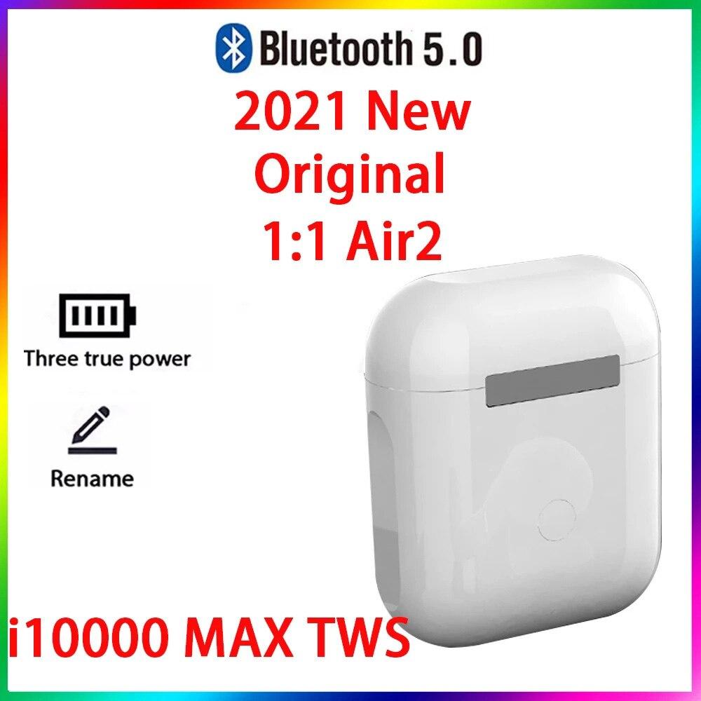 Original i10000 MAX TWS 1:1 GPS nombre auriculares Bluetooth inalámbricos PKi7 i11...