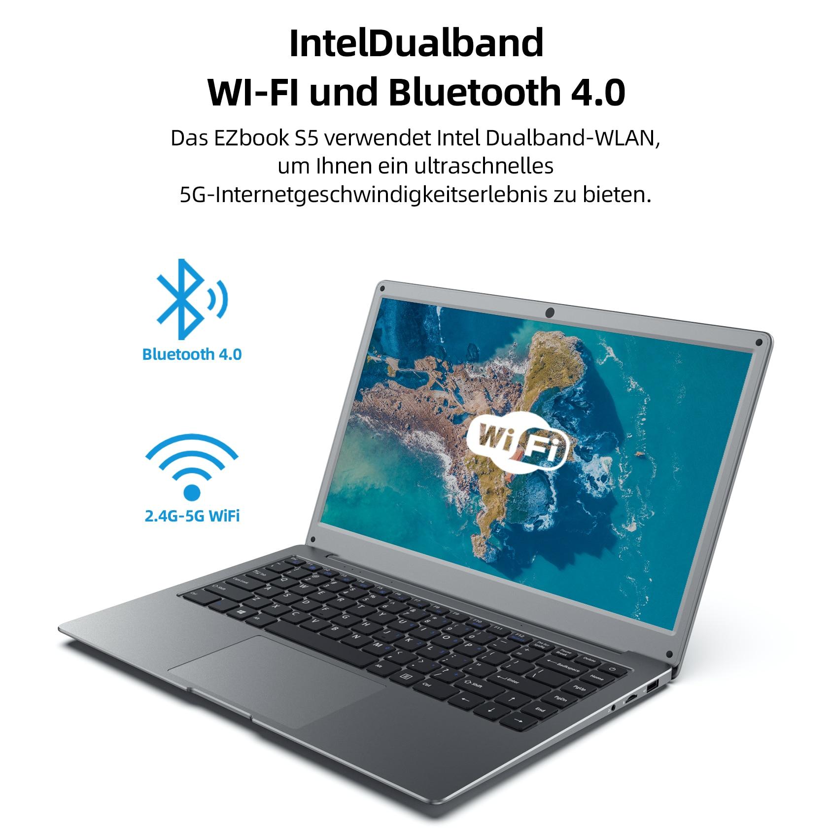 2021 Jumper EZbook S5 14 Inch 12GB 256GB Laptop  1920*1080 IPS Screen Ultra Slim Notebook Intel Celeron Windows 10 Computer