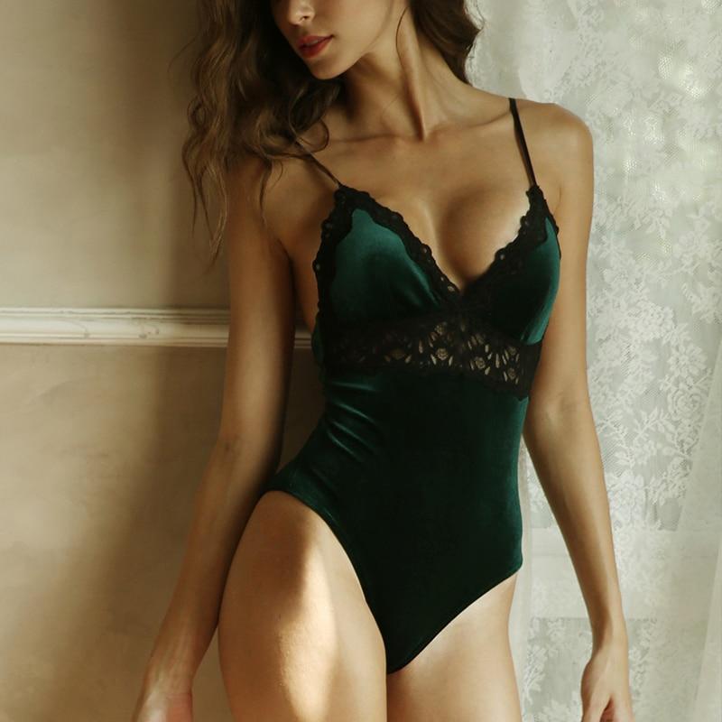 Frauen Retro Gold Samt Warme Basis Low-cut Sexy Abnehmen Körper Abnehmen Sling Body Warme Sexy Body Rot schwarz Grün S-XL