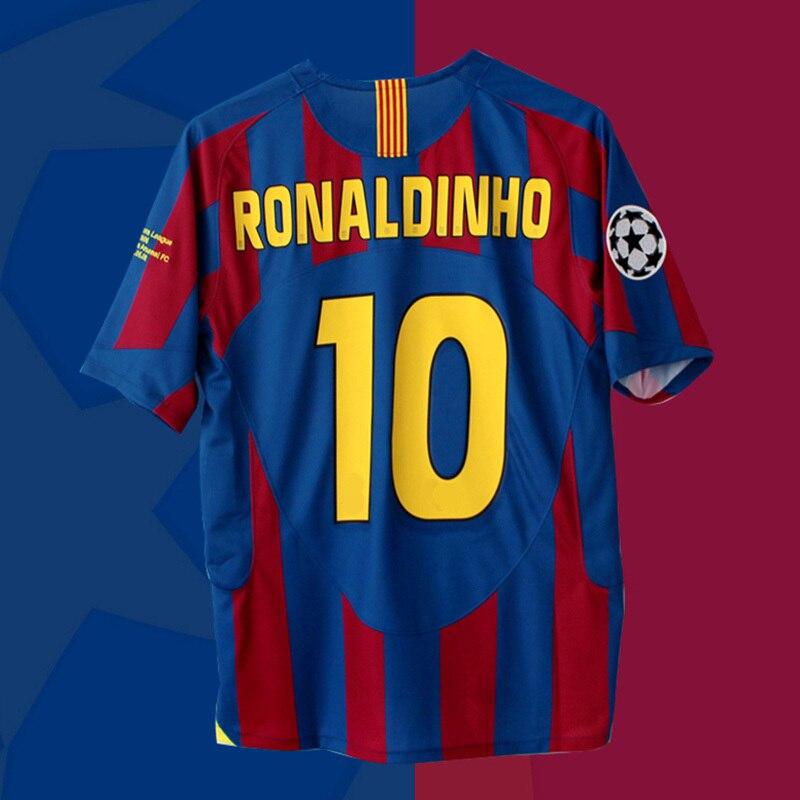 RONALDINHO camisetas DE fútbol MESSI CAMISA DE tiempo CAMISETA FUTBOL MAILLOT uniforme...