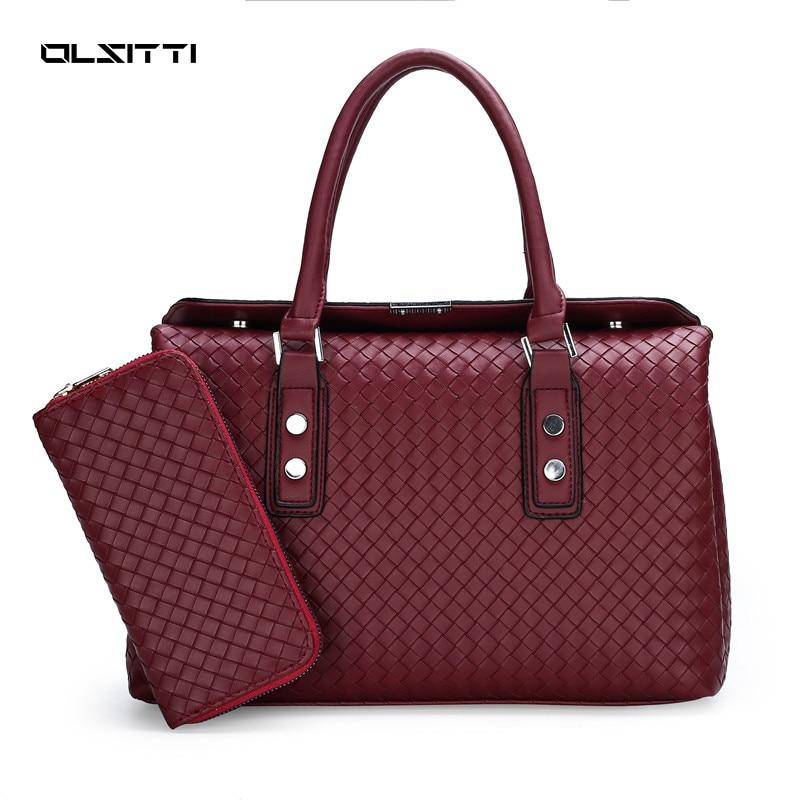 OLSITTI Fashion Pattern Braided PU Leather Handbags Shoulder Bags for Women 2021 Ladies Luxury Trend
