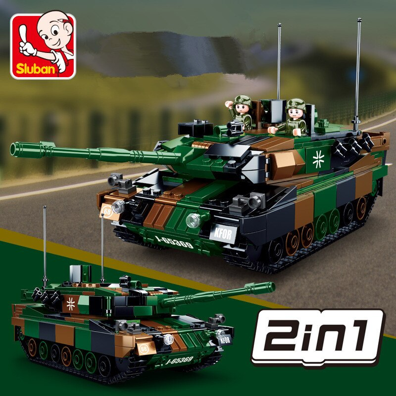 ww2 xingbao the germay leopard 2a6 main battle tank military model armored vehicle building blocks bricks toys birthday gifts 766Pcs Military Leopard 2A5 Main Battle Tank Model Weapon WW2 Army MBT Creator Building Blocks Set Educational Toys for Children