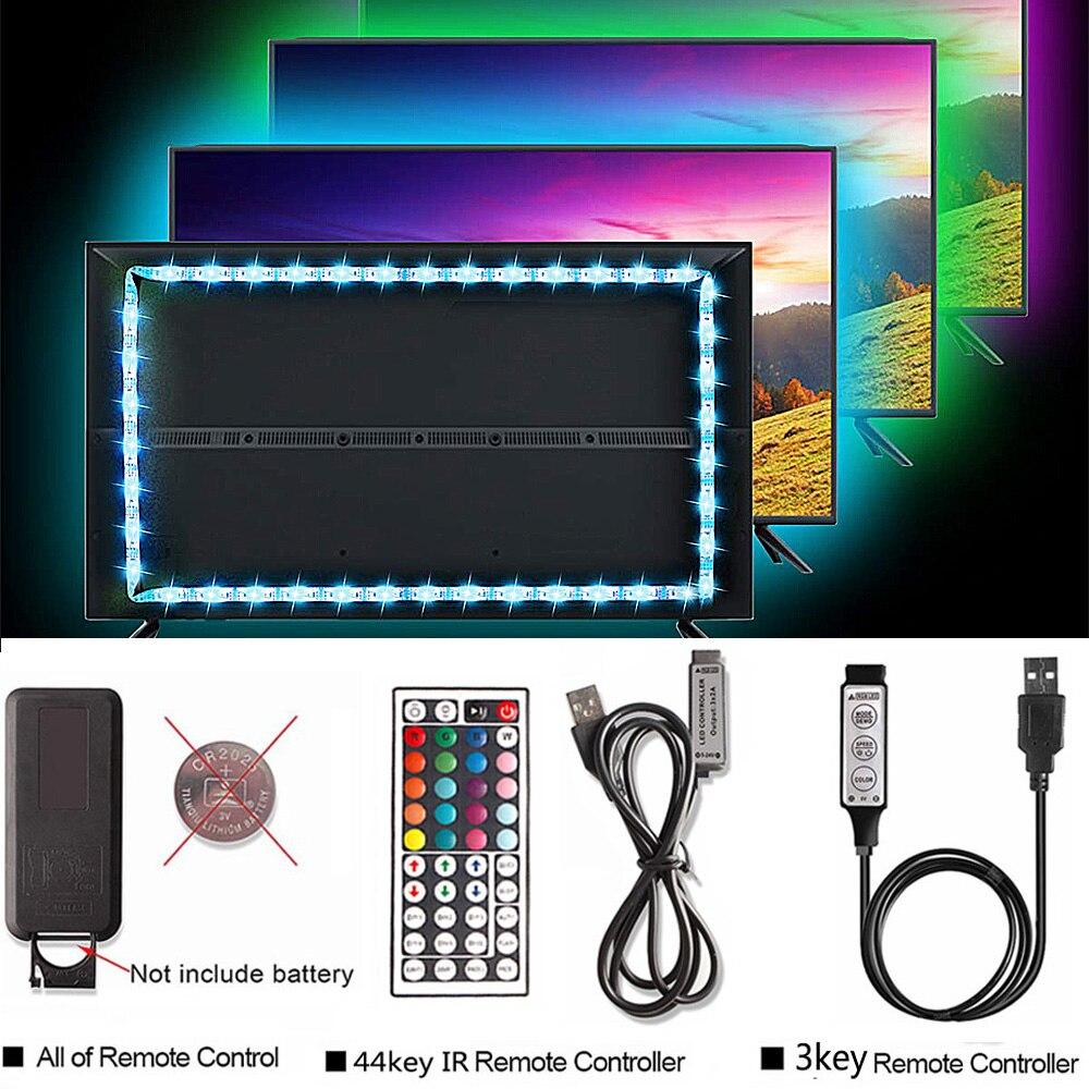 50CM 1M 2M 3M USB Bluetooth RGB LED de luz de Tira...