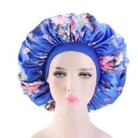 large print satin silky bonnet sleep cap width elastic band for women solid color head wrap lady hair accessories wholesale
