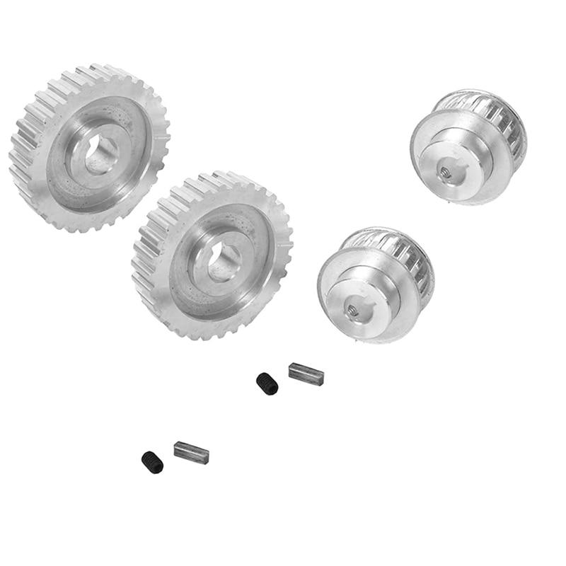 4 قطعة معدنية متزامن بكرة والعتاد المحرك حزام والعتاد محرك عجلة والعتاد S/N Cj0618 البسيطة مخرطة التروس ، قطع المعادن آلة
