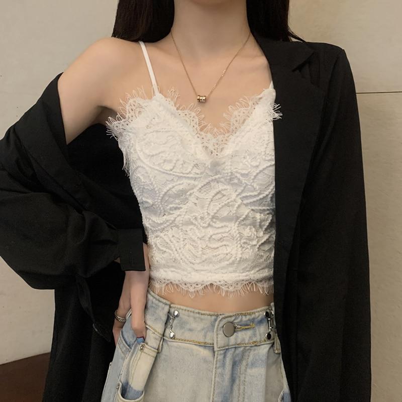 Women's Lace Underwear Wireless Thin Bra Vest Internet Hot Beautiful Back Wrapped Chest Student Girl