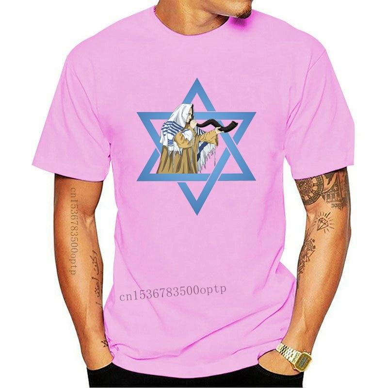 New 2021 Hot sale army t shirt dry fit short sleeve white jewish star of david men shofar kabbalah